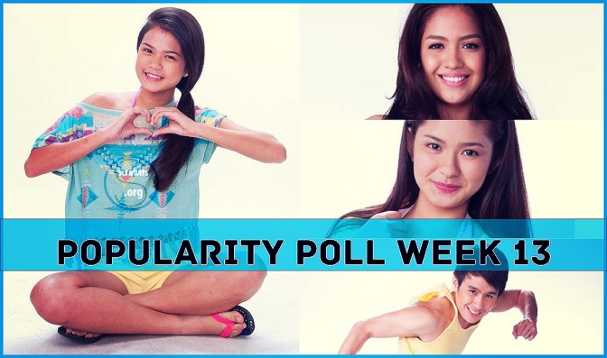 PBB ALL IN, Popularity Poll Week 13 Results, Loisa Andalio, Fifth Solomon, , Jane Oineza, Maris Racal