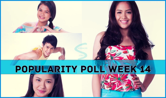 PBB ALL IN, Popularity Poll Week 14 Results, Loisa Andalio, Fifth Solomon, , Jane Oineza, Maris Racal