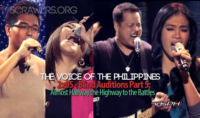 The Voice of the Philippines Season 2, TVOP 2, Blind Auditions