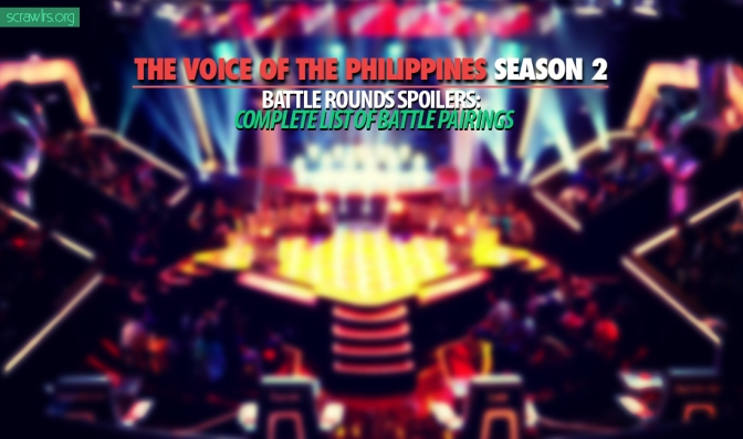 The Voice PH Season 2 — Battle Rounds SPOILERS — Complete List of Battle Pairings