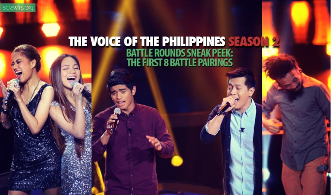The Voice PH Season 2 — Battle Rounds Sneak Peek: First 9 Battle Pairings (UPDATED)