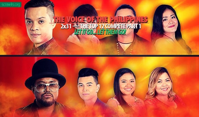 Top 12, Live Shows, The Voice of the Philippines, TVOP 2, Season 2, Power Ranking, Results Show