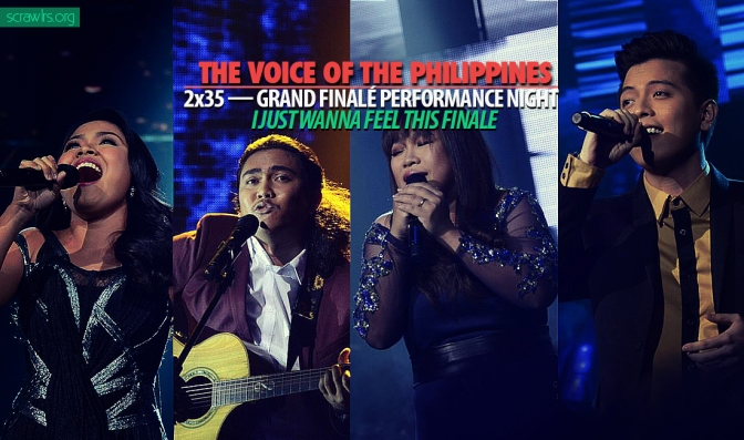 The Voice PH — 2×35 — Grand Finalé Performance Night: I Just Wanna Feel This Finale