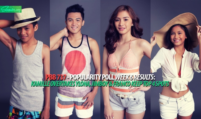 PBB 737 — Popularity Poll Week 6 Results: Kamille Overtakes Ylona, Jimboy and Franco Keep Top 4 Spots