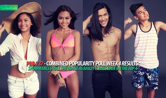 PBB 737 — Combined Popularity Poll Week 4 Results: Showmances Rule The House As Bailey Climbs Back Into The Top 4